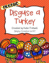 in this freebie students and families will disguise a turkey so