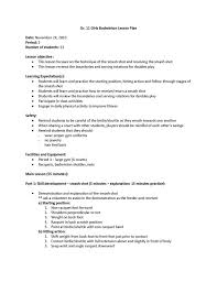 physical education lesson plan template business templates free