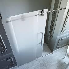 Frosted Glass Shower Door Frameless Vigo 60 Inch Frameless Frosted Glass Sliding Shower Door Free