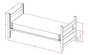 bed measurements american twin bed dimensions best bedroom ideas on pinterest