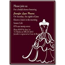 bridal cards chic wedding dress templates bridal shower invitation ewbs007 as