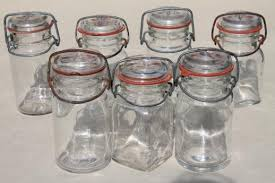 kitchen glass canisters with lids antique blue glass canning jars jars