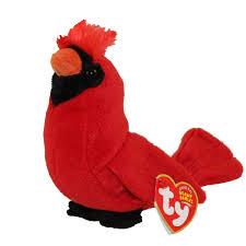 ty beanie baby redford the cardinal bird 5 inch bbtoystore