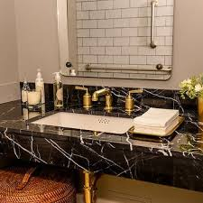Black Bathroom Vanity Design Ideas - Black bathroom vanity and sink