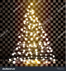 Christmas Tree Made Of Christmas Lights - christmas tree made lights on transparent stock vector 720432259