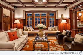 arts and crafts style homes interior design 15 warm craftsman living room designs craftsman living rooms