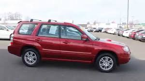 subaru forester red 2006 subaru forester red red stock 7514a walk around youtube
