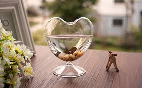 Heart Shaped Glass Vase Creative Heart Shaped Glass Vase Hydroponic Flower Container Drink
