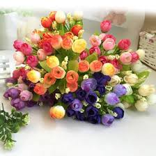 artificial flower home decor aliexpress com buy 1 bouquet 15 heads artificial rose plastic