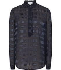 Black Blouse With White Collar Women U0027s Tops Designer Women U0027s Tops By Reiss
