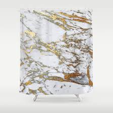 gold marble shower curtain by davis designs society6