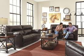 3 Piece Reclining Sectional Sofa by Benchcraft Barrettsville Durablend 3 Piece Reclining Sectional