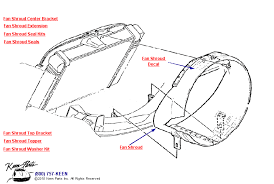 1972 corvette radiator 1978 corvette fan shrouds with aluminum radiator parts parts