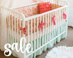 Shabby Chic Crib Bumper by Sale Shabby Chic Roses Baby Bedding Set Cottage Style