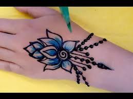 ᴴᴰ easy diy simple beautiful mehndi henna blue colour design