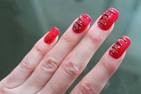 bright red nail art design youtube