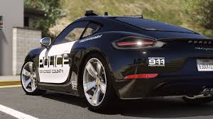 police porsche porsche 718 cayman s pursuit police add on replace