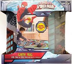 marvel ultimate spiderman interactive game rug 26 3 in x 39 5 in