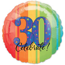 mylar balloons celebrate 30 birthday mylar balloon 18 inch inflated balloon shop nyc