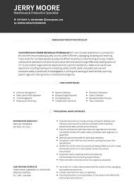 Warehouse Distribution Resume Warehouse Cv Examples And Template