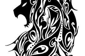 lion tribal designs