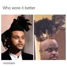 Short Hair Meme - who wore it better ceelo vs the weeknd pinhumour
