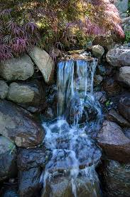 Rock Garden Waterfall Bridges Landscaping