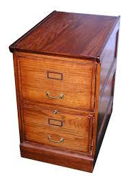 Oak Filing Cabinet Two Drawer Oak File Cabinet Shop Rubylane Antique And