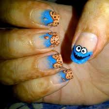 cookie monster nails nail art gallery