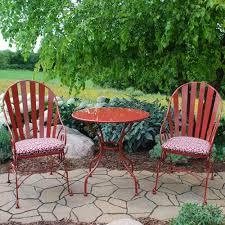 backyard creations vineyard ii 3 piece bistro patio set at menards