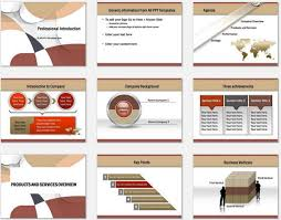 company introduction presentation template powerpoint professional