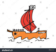 drawing pirate ship stock vector 80050882 shutterstock
