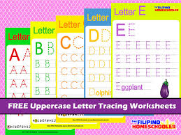 free uppercase letter tracing worksheets the filipino homeschooler