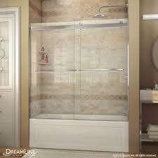 Shower Doors Ebay Dreamline Essence 56 To 60 In Frameless Bypass Tub Door In Chrome
