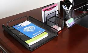 Electronic Desk Organizer Mesh Desk Organizer Set 5pc Groupon Goods
