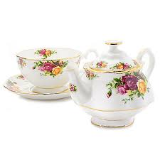 country roses tea set royal albert country roses tea for one 3 bone china set