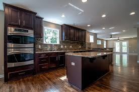 espresso kitchen cabinets with countertop espresso kitchen