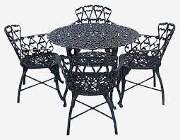 Aluminium Patio Table Prepossessing Cast Aluminium Patio Set With Additional Home