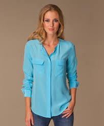 turquoise blouse turquoise equipment blouse sleeved blouse