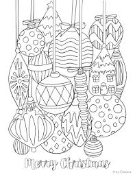 coloring pages ornaments free printable christmas pages fun