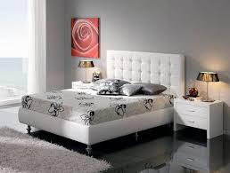Tufted Bed With Storage Modern Platform Bed With White Tufted Headboard And Storage Area