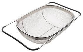 over the sink colander amazon com oneida expanding colander colander sink kitchen dining