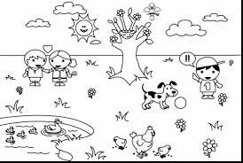 astounding spring tree coloring pages printable with spring