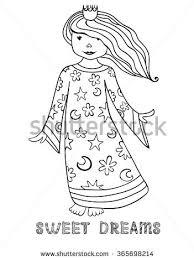 princess crown nightie sweet dreams stock vector 365698214