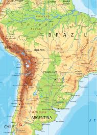 South Asia Physical Map Political Map Of South America A Detailed Laminated Wall Map