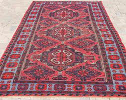 Red Carpet Rug Caucasian Rug Etsy