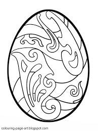 curlicue easter egg colouring page colouring page art