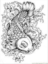 japanese koi coloring pages and print for free узоры
