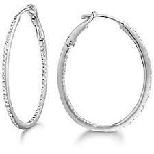 white gold hoops 14k white gold 1 3ct tdw diamond hoop earrings g h si2 free