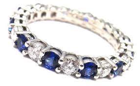 3mm diamond and co diamond sapphire shared setting 3mm platinum band